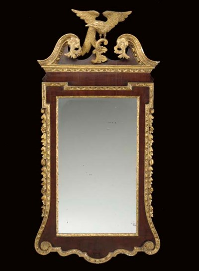 A CHIPPENDALE PARCEL-GILT LOOK