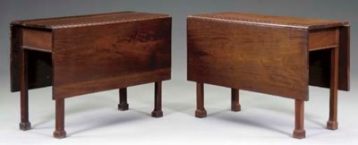 A PAIR OF CHIPPENDALE WALNUT D
