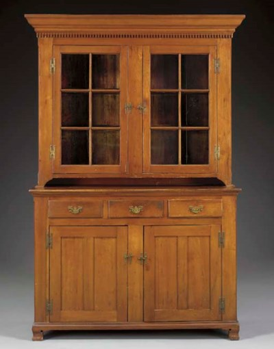 A CHIPPENDALE CHERRYWOOD STEP-