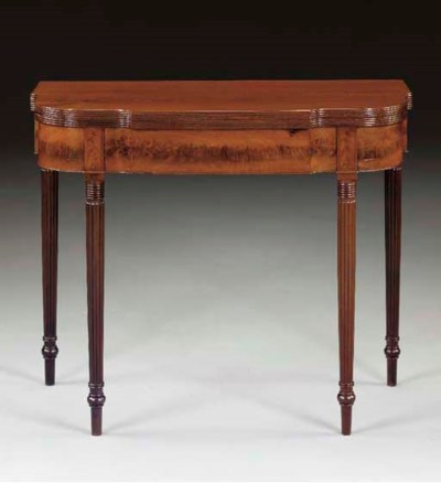 A FEDERAL MAHOGANY CARD TABLE