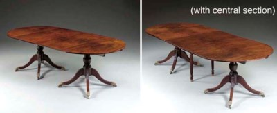 A Federal Carved Mahogany Two-