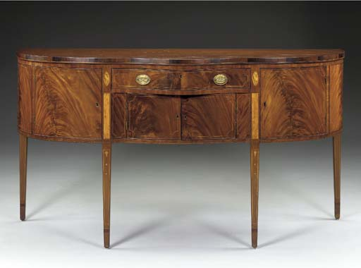 A FEDERAL INLAID MAHOGANY SIDEBOARD