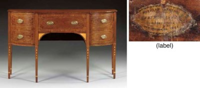 A FEDERAL INLAID MAHOGANY AND