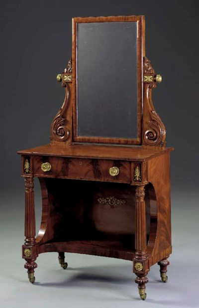 A CLASSICAL CARVED MAHOGANY DR