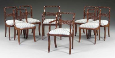 A SET OF EIGHT CLASSICAL CARVE