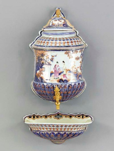 A ROSE-IMARI CISTERN AND COVER