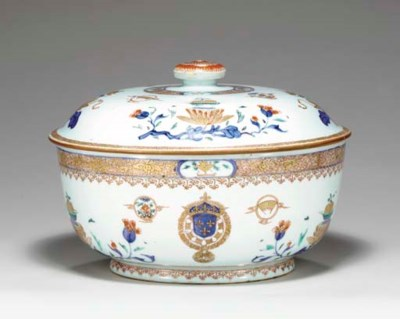 A FRENCH ROYAL TUREEN AND COVE