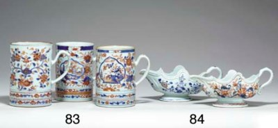 THREE LARGE CHINESE IMARI MUGS