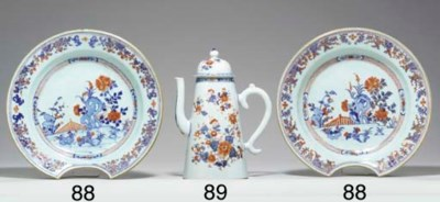 A CHINESE IMARI COFFEEPOT AND