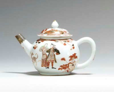 A GOVERNOR DUFF TEAPOT AND COV