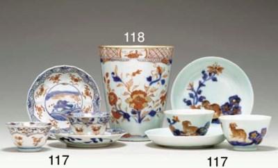 TWO PAIRS OF CHINESE IMARI TEA