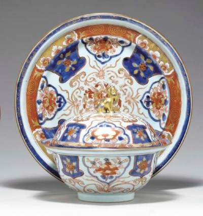 A DUTCH ARMORIAL BOWL, COVER A