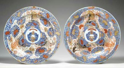 A LARGE PAIR OF CHINESE IMARI
