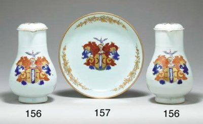 A PAIR OF VALCKENIER JUGS AND