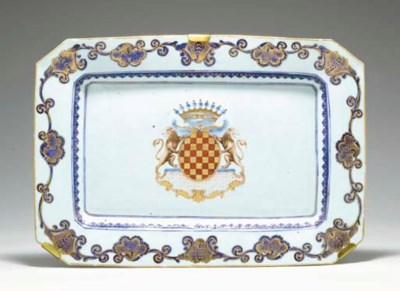 AN UNUSUAL ARMORIAL TRAY