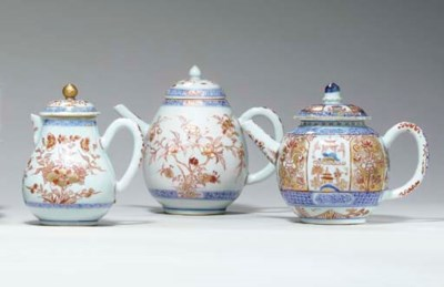 THREE CHINESE IMARI POTS AND C