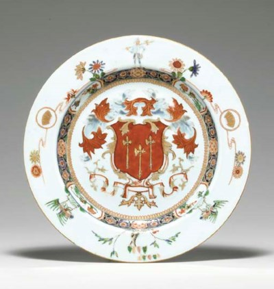 A LARGE FAMILLE VERTE ARMORIAL