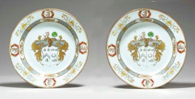 A PAIR OF GRISAILLE AND GILT A
