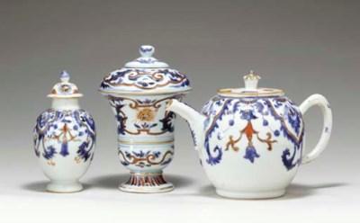 THREE FRENCH TASTE TEA PIECES
