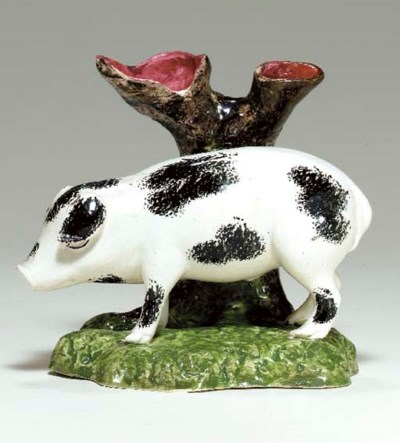A BRITISH PEARLWARE MODEL OF A