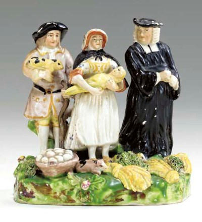 A STAFFORDSHIRE PEARLWARE 'TIT