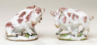 A PAIR OF DERBY (DUESBURY & CO