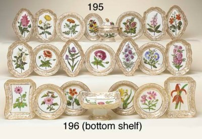 A COALPORT BOTANICAL PART DESS