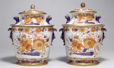 A PAIR OF ENGLISH IRONSTONE IC