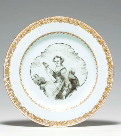 A GRISAILLE AND GILT EUROPEAN