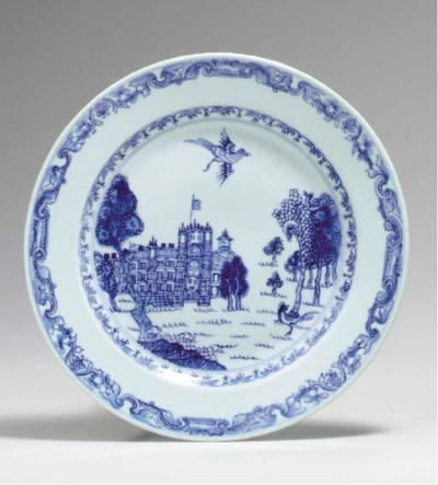 A RARE BLUE AND WHITE BURGHLEY