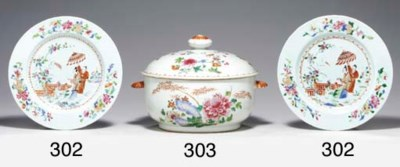 A FAMILLE ROSE TUREEN, COVER A