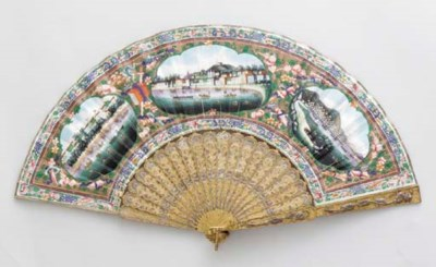 A PAINTED PAPER FAN