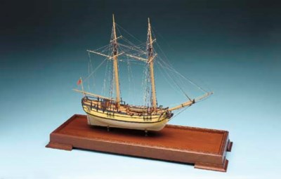 A Model of the colonial schoon