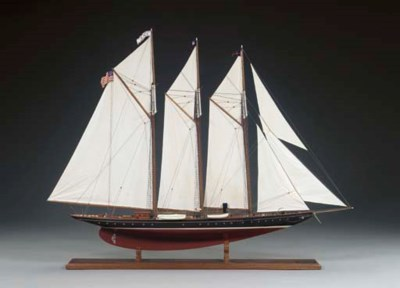 A Model of the Schooner Yacht