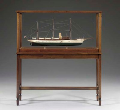 A Model Of The Steam Yacht APH