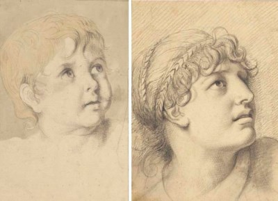 Head of a young woman with bra