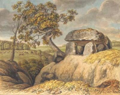 A prehistoric dolmen on a rock