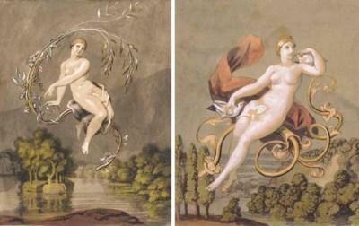 Four illustrations for Goethe'