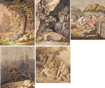 Five illustrations associated