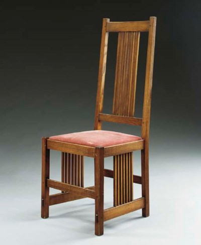 AN OAK SPINDLE SIDE CHAIR,