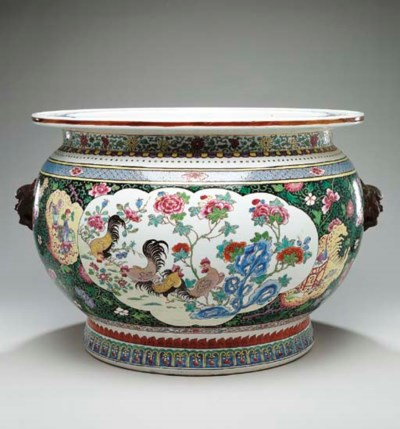 A SAMSON PORCELAIN FISHBOWL IN