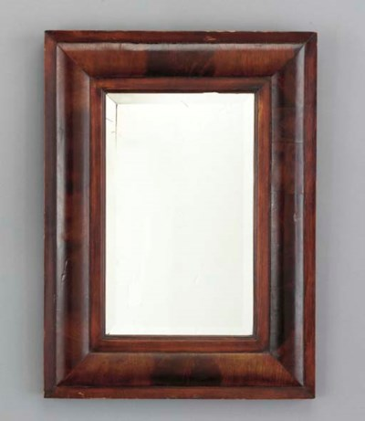 A MOULDED RECTANGULAR STAINED