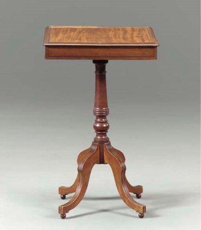 LATE REGENCY INLAID MAHOGANY G
