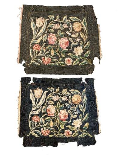 A PAIR OF FLEMISH FLORAL TAPES