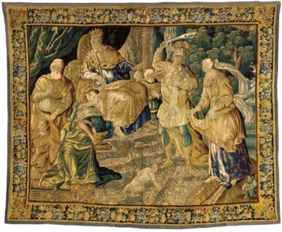 AUBUSSON BIBLICAL TAPESTRY,