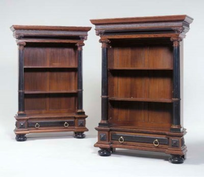 A PAIR OF CONTINENTAL ROSEWOOD