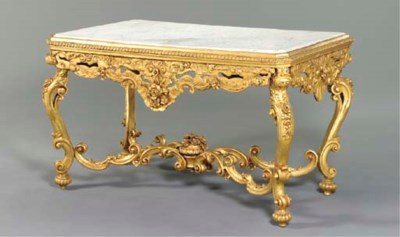 A LOUIS XV STYLE GILTWOOD CENT