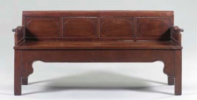 CHINESE HARDWOOD BENCH,