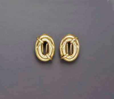 A GROUP OF GOLD EAR CLIPS, BY