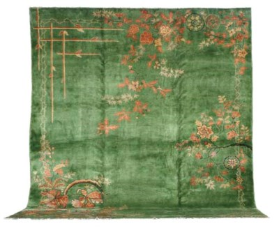 A CHINESE ART DECO CARPET,